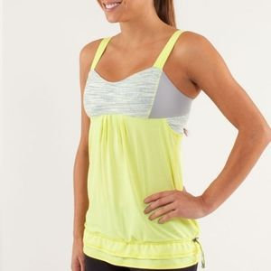 Lululemon Run: Back On Track TankClarity Yellow / Wee Are From Space Polar Cre